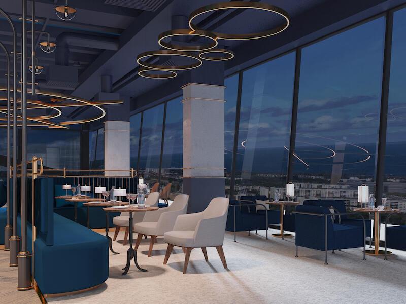 Na 32. piętrze Olivii Star planowane są też kameralne koncerty jazzowe i akustyczne