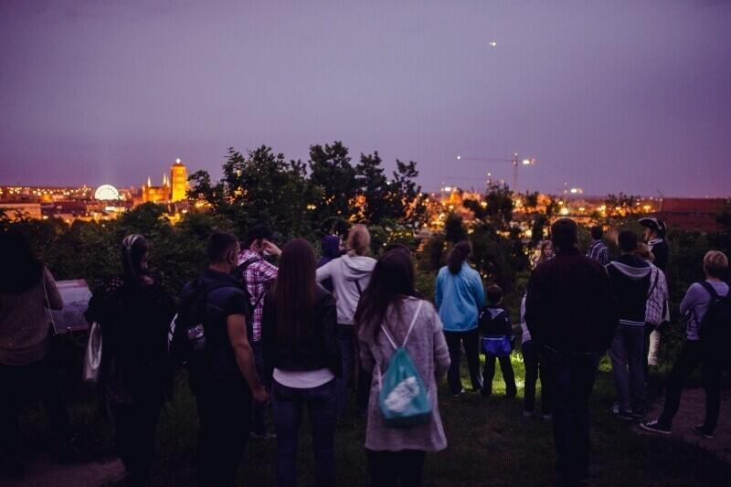 Nocna panorama Gdańska z Góry Gradowej - bezcenna