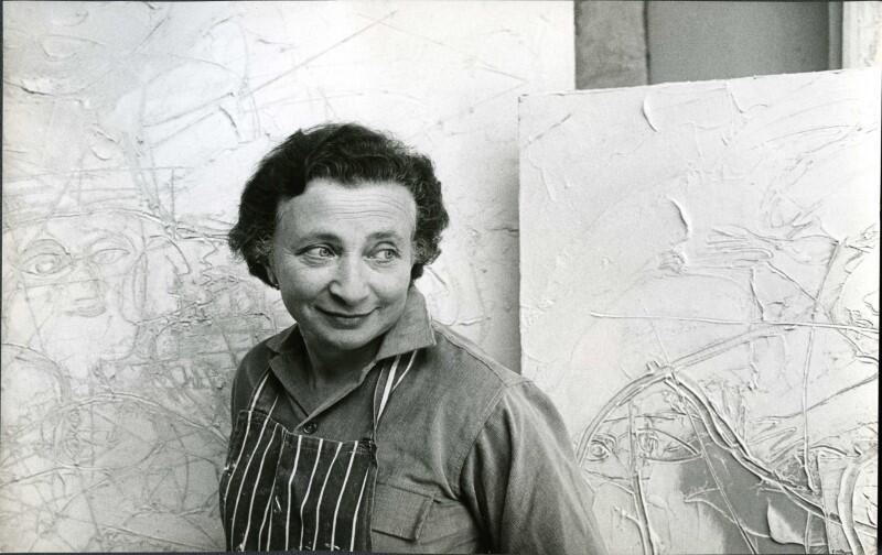 Franciszka Themerson w pracowni, 1962 rok