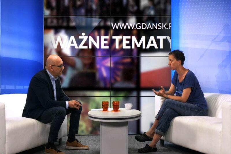 Wideoczat o czystości Bałtyku. W studiu gdansk.pl Magdalena Figura z Greenpeace Polska i Marek Wałuszko,prowdzący program