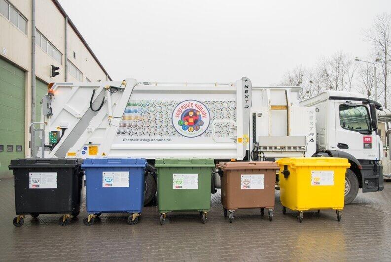 W Gdańsku odpady są zbierane do pięciu różnych pojemników
