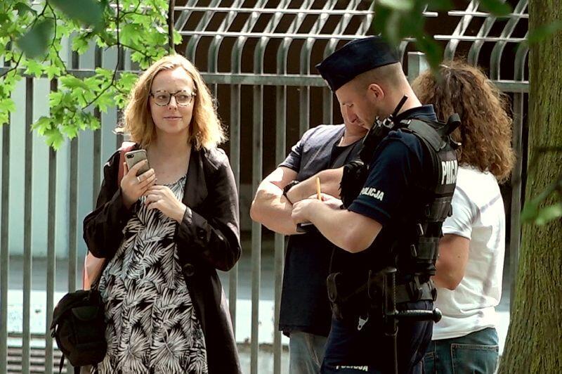 Interwencja policji na Westerplatte