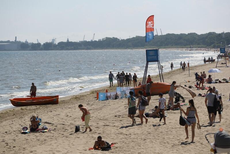 Sinice na plażach w Gdańsku. Kąpiel jest zabroniona