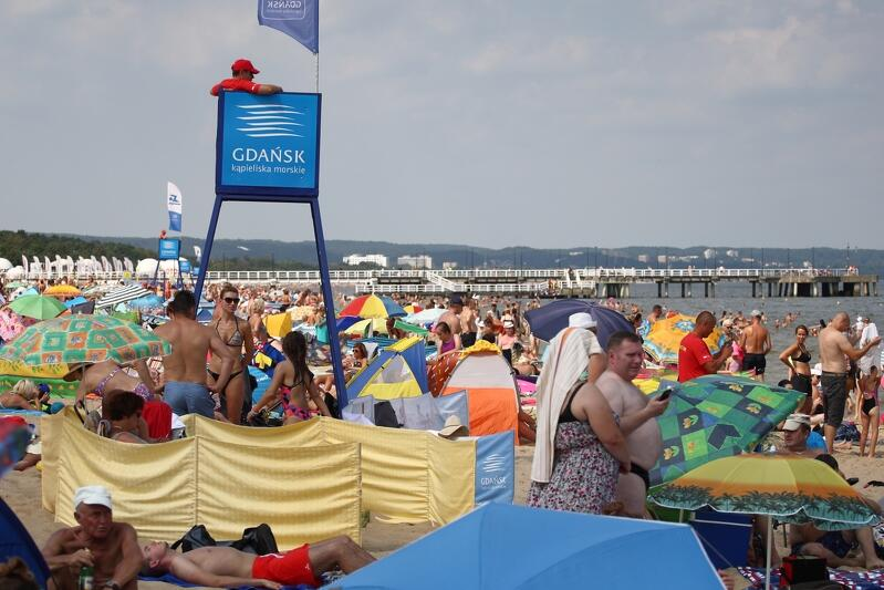 Plaża w Gdańsku Brzeźnie