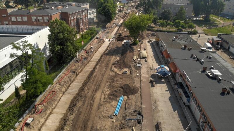 Ul. Stryjewskiego: remont torowiska i układu drogowego
