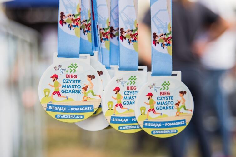 Każdy uczestnik Biegu Czyste Miasto Gdańsk otrzyma pamiątkowy, ekologiczny medal