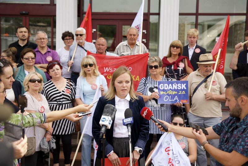 Apel do wojewody pomorskiego odczytała radna Katarzyna Czerniewska