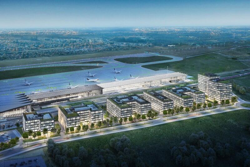 Airport City Gdańsk łączyć ma funkcje biurowe, biznesowe i hotelowe. Wszystkie budynki będą bardzo korzystnie usytuowane, tuż obok lotniska