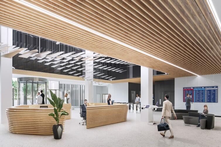 Tak, według wizji projektantów, ma wyglądać hall jednego z biurowców