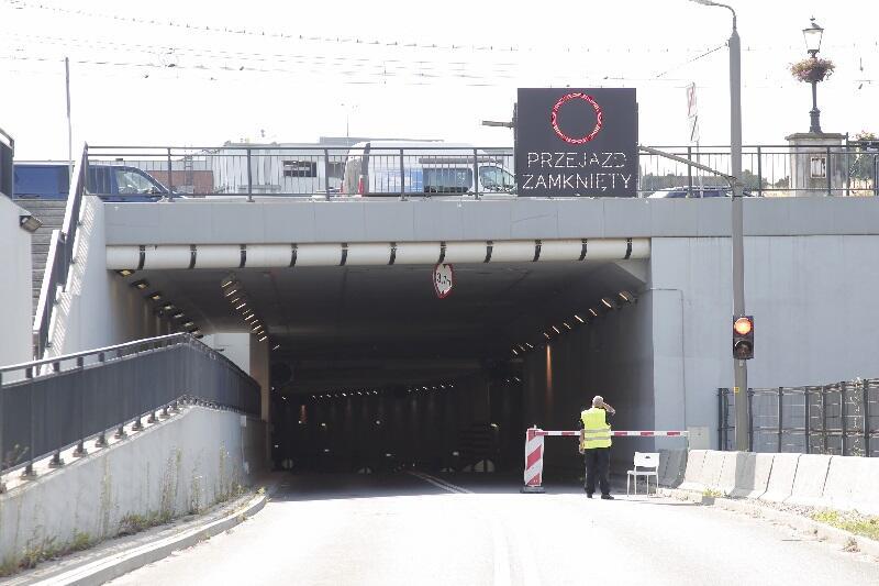 Tunel pod Forum Gdańsk jest zamknięty do odwołania