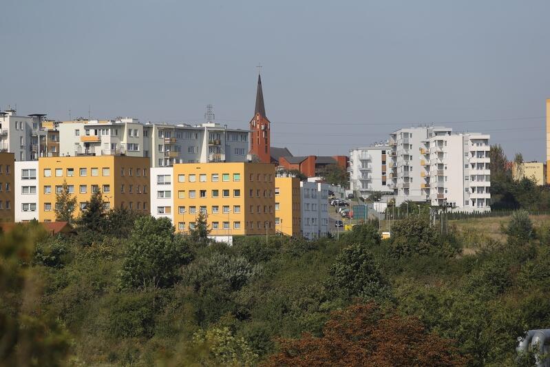 Widok na gdańską dzielnicę Chełm