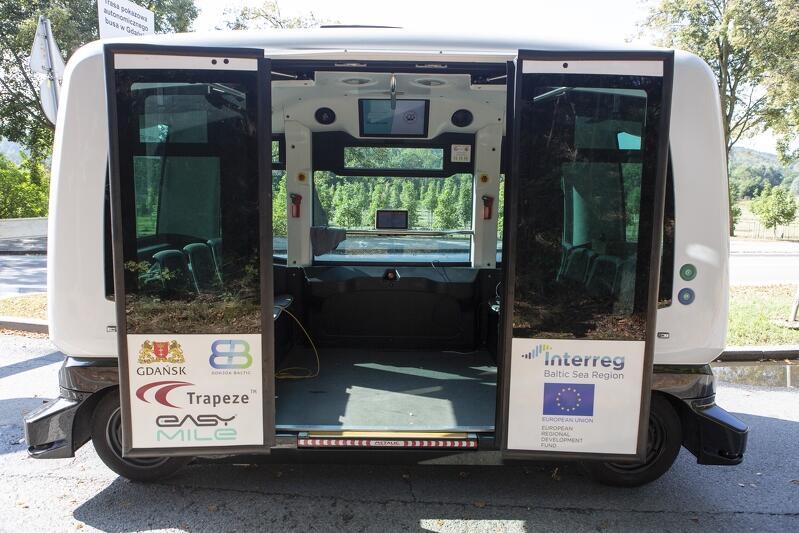 Autonomiczne pojazdy w Gdańsku to efekt udziału naszego miasta w projekcie Sohjoa Baltic pn. Przejście do ekologicznego i autonomicznego transportu publicznego ostatniej mili w Regionie Morza Bałtyckiego