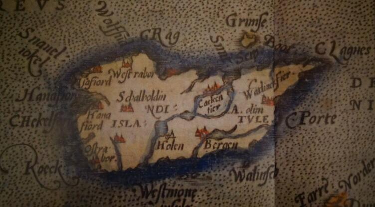 Islandia na mapie z XV wieku