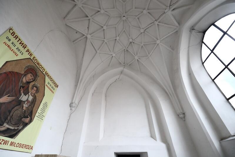 Sklepienie kościoła św. Bartłomieja w Gdańsku, luty 2019 r.