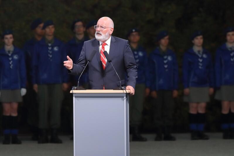 Frans Timmermans podczas przemówienia na Westerplatte mówił, dlaczego jest osobiście zainteresowany tym, by Polska była ważnym członkiem rodziny narodów europejskich