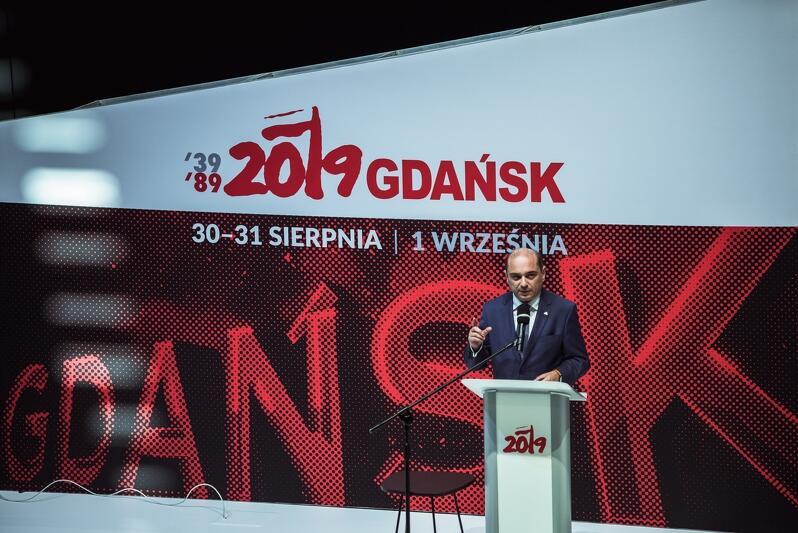 30 sierpnia, Gdańsk, ECS. Debata Etyka Solidarności. Refleksja w rocznicę podpisania porozumień sierpniowych . Nz. dyrektor ECS Basil Kerski