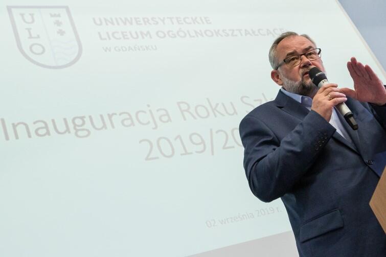 Gościem honorowym inauguracji roku szkolnego był Piotr Adamowicz, brat śp. prezydenta Gdańska