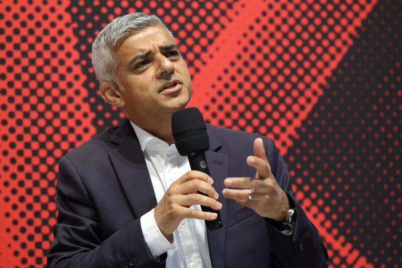 Sadiq Khan podczas debaty `Solidarność i pokój. Miasto jako europejska wspólnota`, która odbyła się 1 września 2019 r. w ECS