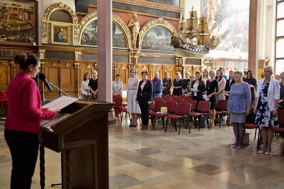 Uroczyste wręczenie aktów nadania stopnia nauczyciela mianowanego odbyło się w Dworze Artusa