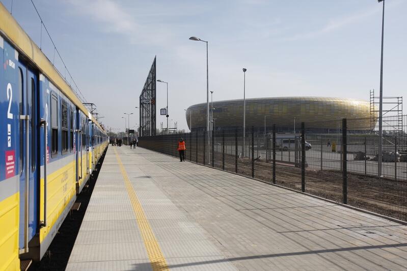Na mecz Lechii tradycyjnie najlepiej dojechać kolejką SKM do stacji Gdańsk Stadion Expo