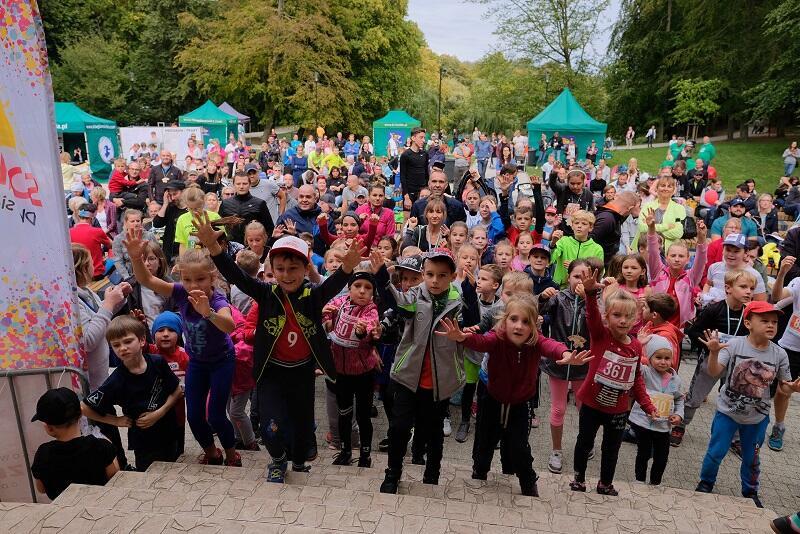 Wśród 600 biegaczy, ok 400 startowało w biegach dziecięcych