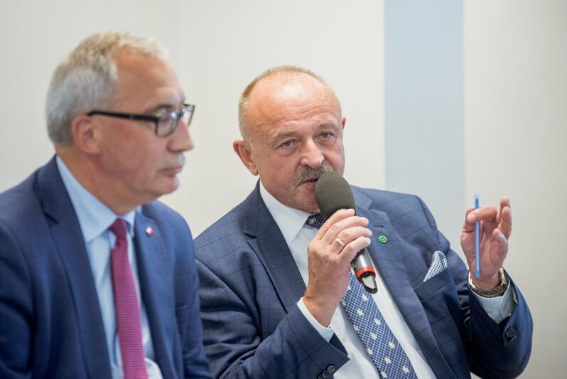 Krzysztof Trawicki (po prawej) - KW Polskie Stronnictwo Ludowe