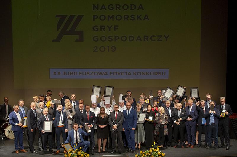 Uroczysta gala wręczenia Nagrody Pomorskiej Gryf Gospodarczy 2019 w Operze Bałtyckiej