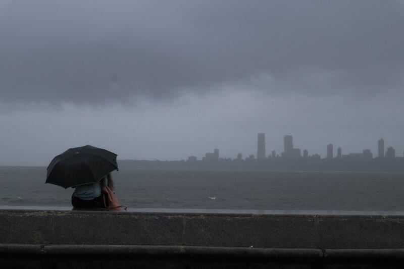 Deszczowe nadbrzeże w Bombaju – pora monsunowa momentami dawała się mocno we znaki