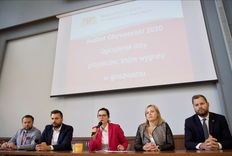 Wyniki głosowania na projekty BO ogłoszono podczas konferencji w gdańskim magistracie