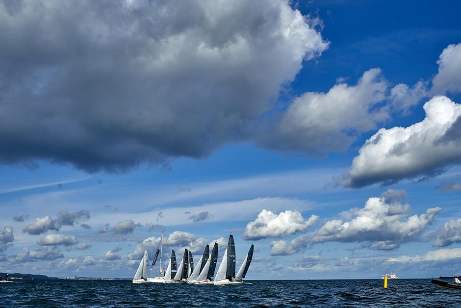 W rywalizacji wzięło udział kilkanaście jachtów