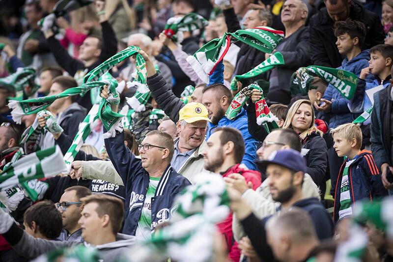 Fani Lechii podczas meczu z Koroną Kielce