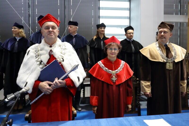 Inauguracja roku akademickiego 2019/2020 w Akademii Wychowania Fizycznego i Sportu w Gdańsku. Nz. Rektor AWFiS Waldemar Moska