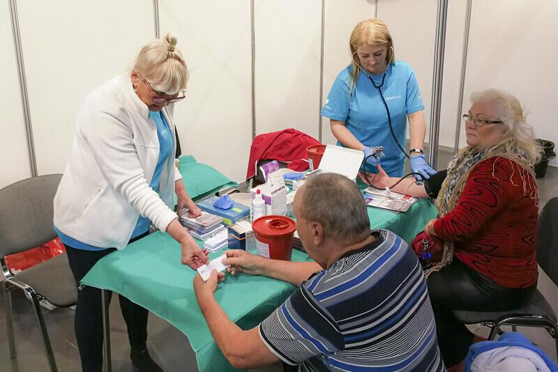 Dużą popularnością cieszyła się strefa zdrowia, gdzie można było bezpłatnie zrobić wiele badań