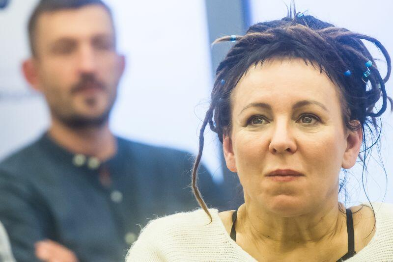 Olga Tokarczuk w Teatrze Muzycznym w Gdyni podczas Festiwalu Polskich Filmów Fabularnych 2017 r. 22.09.2017 fot. Mateusz Ochocki /