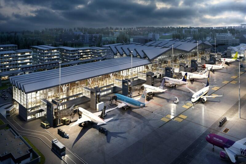 W nowym pirsie będą obsługiwani pasażerowie non-Schengen , takich jak Irlandia czy Wielka Brytania, a także pasażerowie czarterów np. do Turcji, Egiptu