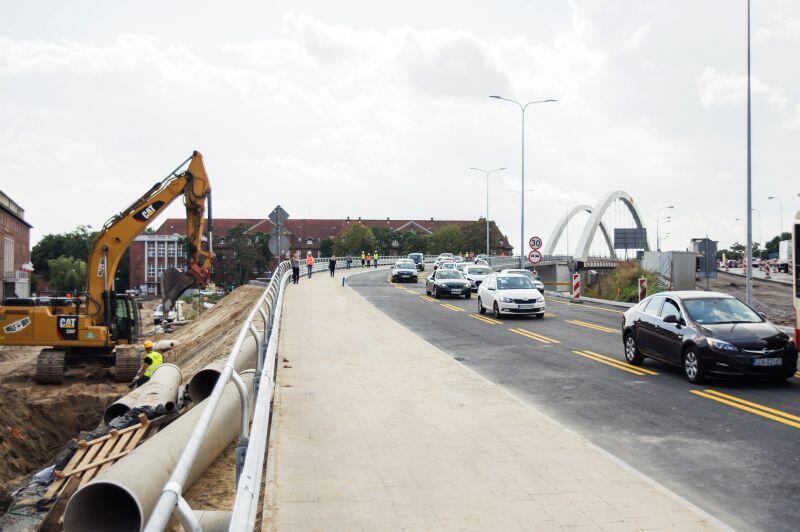 Budowa wiaduktu Biskupia Górka zakończ się za rok