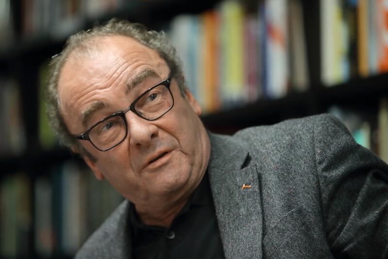 Robert Menasse na spotkaniu autorskim w bibliotece ECS