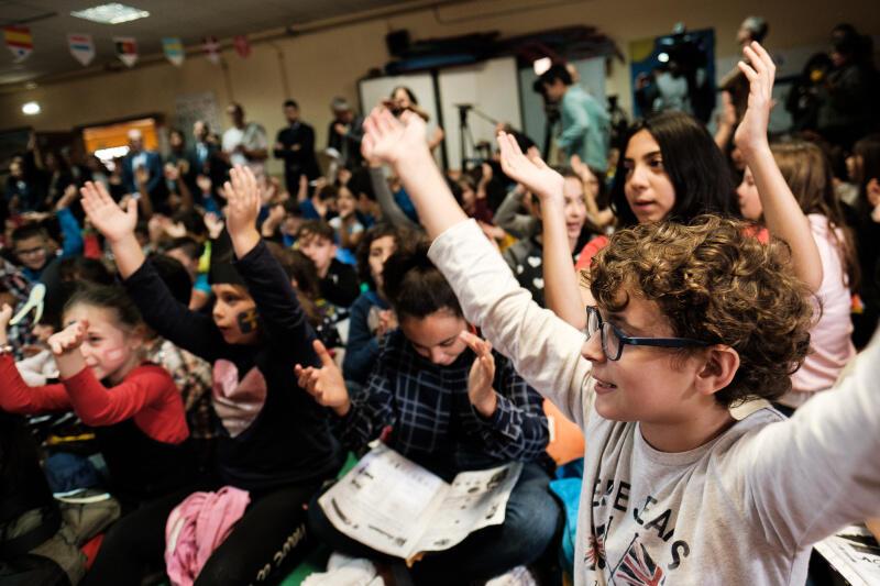 Uczniowie ze szkoły Colegio Público Miguel de Cervantes do spotkania przygotowywali się przez miesiąc, poznając historię Gdańska