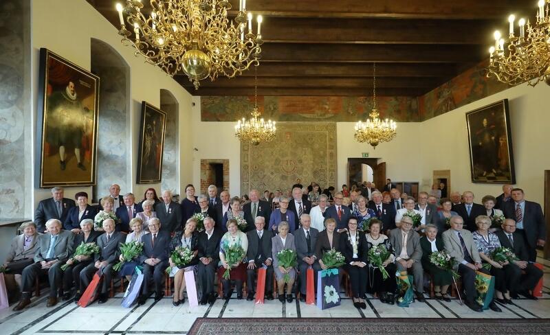 32 gdańskie małżeńskie pary obchodziły Złote, Platynowe, Diamentowe i Żelazne Gody