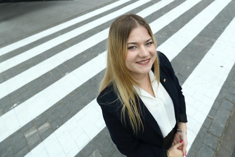 Paulina Nowak przewodnicząca Młodzieżowej Rady Miasta Gdańska przez cztery lata (dwóch dwuletnich kadencji)
