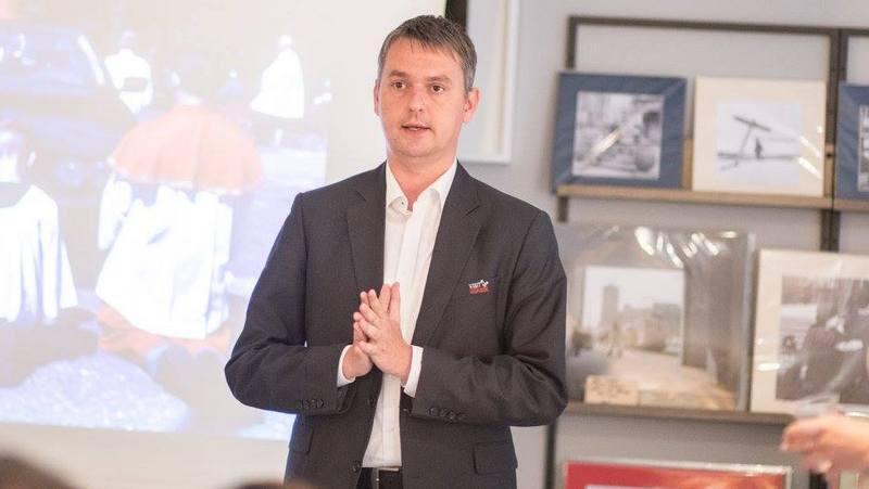 Michał Brandt w lipcu 2017 roku podczas spotkania z cyklu 3camp powered by Interizon, organizowanego wspólnie przez Olivia Business Centre i Gdańską Organizację Turystyczną