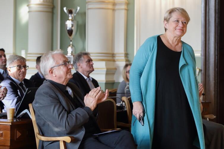 W październikowej sesji RMG uczestniczyła córka Lecha Bądkowskiego, Sławina Kosmulska