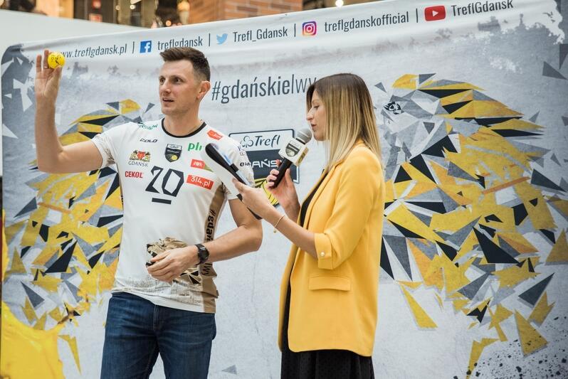 Wojciech Grzyb podczas przedsezonowej prezentacji