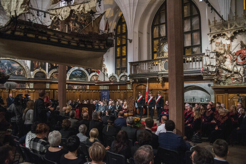Uroczysta sesja Rady Miasta Gdańska, 28 października 2019 r., Dwór Artusa