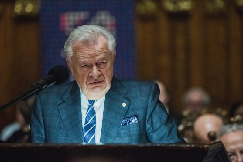 Jan Zarębski przypomina sylwetkę Adrea Antastasi - laureata Medalu św. Wojciecha