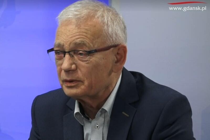 Dr Andrzej Drzycimski w naszym studio, podczas programu 'Wszystkie Strony Miasta'