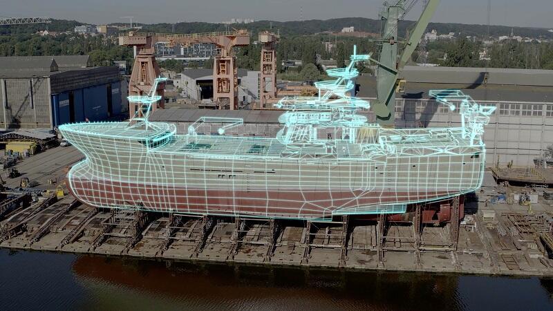 W serii filmów `Europa z powietrza` zastosowano techniki animacyjne, np. w Stoczni Gdańskiej