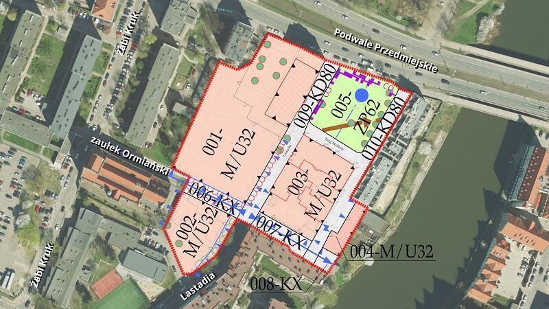 Stare Przedmieście rejon Targu Maślanego i ulicy Lastadia