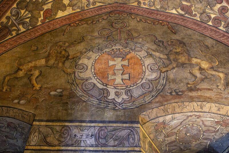 Herb Gdańska w sali Wielki Krzysztof