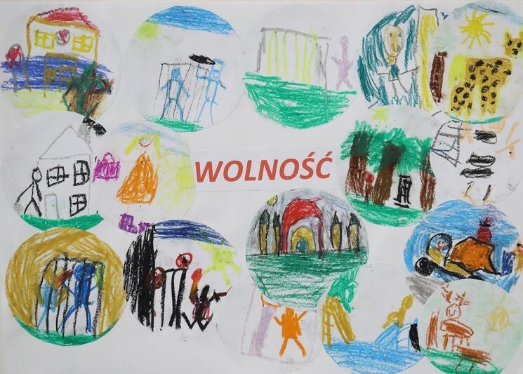 Inspiracją do wykonania przez przedszkolaków prac były wartości ważne dla Miasta Gdańska